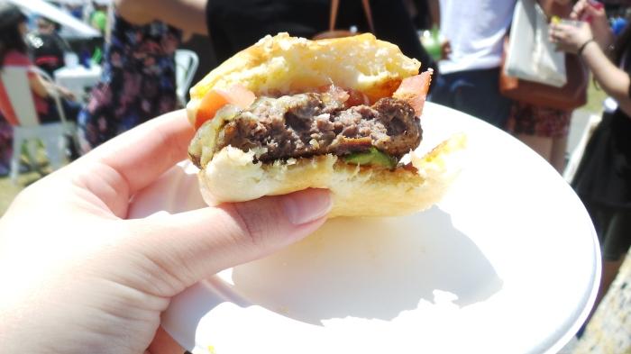 Mini Huxtaburger, Moondarra beef, Huxtaburger