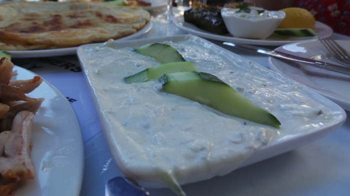 Tzatziki, four serves $9