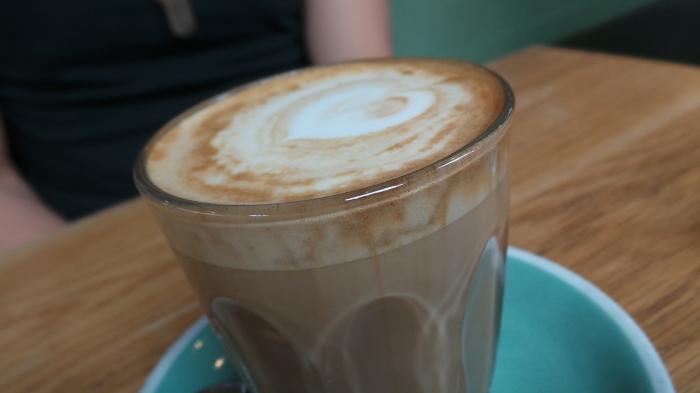 Skinny latte, $3.5