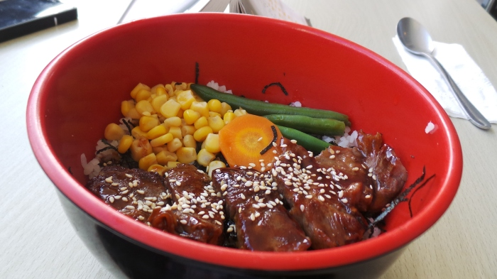 Beef Steak Pepper Bowl, $8.95