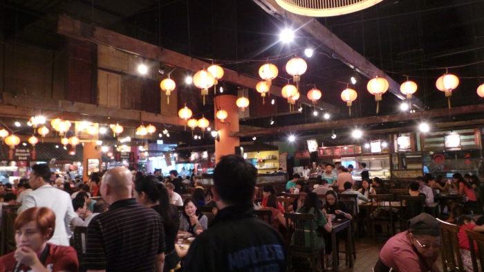 A typical Hawker Centre in Singapore
