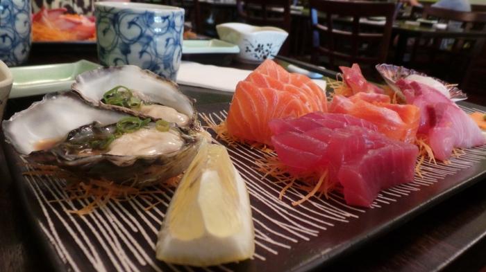 Sashimi platter, $30