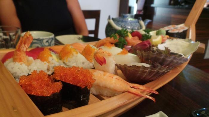 Sushi boat, $60